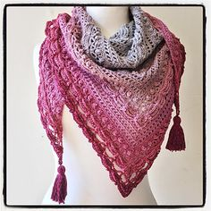 Ravelry: Hoopvanessa's Lost in Time shawl in Sheepjes Color Whirl yarn in 753 Slice 'O' Cherry Pie