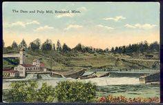 Dam & Pulp Mill in Brainerd, Minnesota postcard
