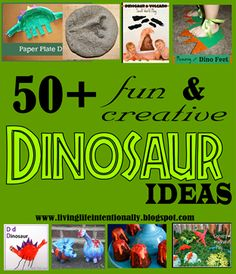 50+ fun and creative #Dinosaur #crafts #kidsactivities #sensory ideas including @LivingLifeInten @Sarah Therese Ted Art @deb rouse schwedhelm @ Living Montessori Now @Rachel Goode a Jeweled Rose @Lori Eagan K @Bernadette Folwarczny (Mom to 2 Posh Lil Divas) and more from Kid Blogger Network