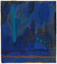 "Helen Frankenthaler - Tales of Genji III, 1998 Fifty-three color woodcut from 18 woodblocks and 2 stencils on gray TGL handmade paper 47"" x 42"""
