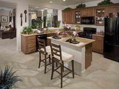 Coral Model - Las Vegas Ryland Homes kitchen Living Room Kitchen, New Kitchen, Kitchen Ideas, Kitchen Decor, Ryland Homes, Las Vegas Homes, Dream House Interior, New Homes For Sale, Home Kitchens