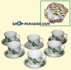 SHOP-PARADISE.COM:  Teeservice Porzellan, Maiglöckchen 14,28 €