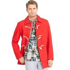 e5c2ceecb1fe3 toggle coat  classic  red  TommyHilfiger Red White Blue, Preppy Style, Tommy