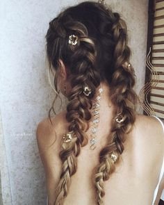 Rock out in double french braids!