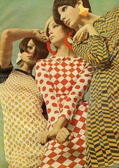 60's geometric fashion