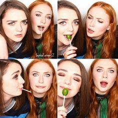Things that make you go AWW! English Actresses, Actors & Actresses, The Thirteenth Tale, Maisie Williams Sophie Turner, Famous Duos, The Winds Of Winter, Game Of Throne Actors, Game Of Thrones Cast, She Movie