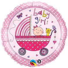 New Baby Girl Balloons Baby Girl Shower Girl Baby by PartySurprise