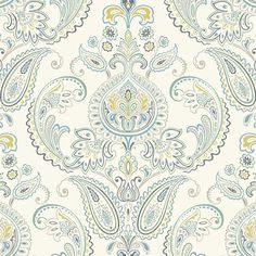 "Candice Olson Inspired Elegance Tasara 27' x 27"" Paisley Wallpaper #birchlane"