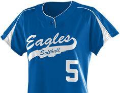 Ladies Blast Softball Jersey by Augusta Sportswear Syle Number 1532 Softball Jerseys, Fastpitch Softball, Augusta Sportswear, Number, Lady, Mens Tops, Stuff To Buy, Style, Stylus