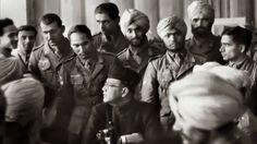 Soldado de la Freies Arabien con Subhas Chandra Bose