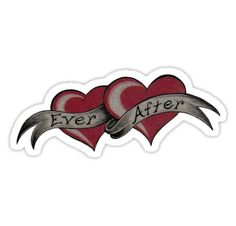 Ever After by Aarron Laidig Tattoo Flash Art Sticker hearts
