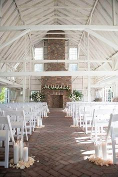 Wedding Ceremony Inspiration Photo Robert and Kathleen Photography MODwedding is part of Wedding venue decorations Ceremony Decor - Wedding Ceremony Ideas, Barn Wedding Venue, Wedding Ceremony Decorations, Wedding Events, Barn Weddings, Ceremony Backdrop, Chapel Wedding, Decor Wedding, Indoor Wedding Venues