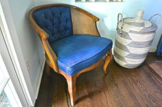 How To Paint Upholstered Furniture  •  Free tutorial with pictures on how to make a chair in under 120 minutes