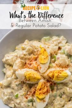 Ask RecipeLion: What's the Difference Between Amish & Regular Potato Salad? Amish Potato Salads, Potato Salad Dill, Potato Salad With Egg, Potato Recipes, Cat Recipes, Deli Salad Recipe, Salad Recipes, Kitchen Recipes, Cooking Recipes