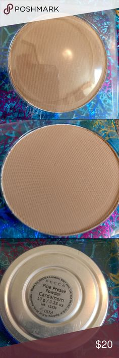 MAC NC 44 Pressed Powder Dupe BECCA PRESSED POWDER BECCA FINE PRESSED POWDER FOUNDATION CARDAMOM  FULL SIZE STORE TESTER, and compact refill. Great for Z Pallet. No depotting needed. This is a full size department store tester. It is exactly the same as what comes in the compact except for the packaging. It comes in a clear blister pack that closes tightly. You could pop out your old powder from your BECCA compact and replace it w this or use it as is. MAC Cosmetics Makeup Foundation