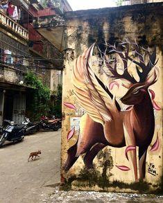 Street Art by Fio Silva in Hanoi Vietnam