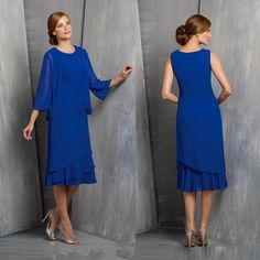 Hunter Green Plus Size Mother Of Bride Evening Dresses With Coat Long Sleeves Tiers Tea Length Cheap 2016 Formal Women Prom Occasion Gowns Mother Bride Mother Groom Dresses From Whiteone, $129.27| Dhgate.Com