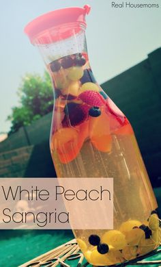 White Peach Sangria - switch to Peach vodka (from schnapps). Perfect! Sweet, refreshing.