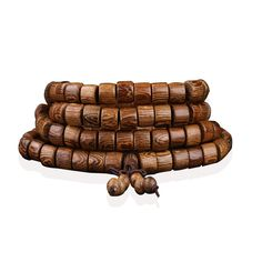 Wenge Prayer Beads 108 Tibetan Buddhist Cylindrical Bracelet Men Wooden Jewelry Accessories Mala Bracelets Bangles