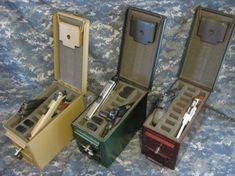 AMMO CAN HANDGUN CASE, VERY COOL, DOUBLE GUN, .50         AMMO BOX, .50 CAL, NATURAL MIL SPEC PAINT