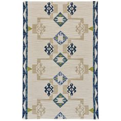 Pacifica Hand-Tufted Blue/Natural Area Rug