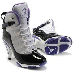 Air Jordan 6 Retro High Heels Purple White Black