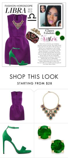 """The Librascope"" by two-faced-honey ❤ liked on Polyvore featuring Deepa Gurnani, Yves Saint Laurent and Kate Spade"