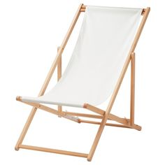 MYSINGSÖ Beach chair - folding white, - - IKEA
