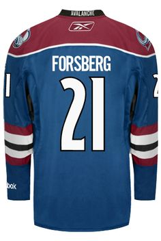 Colorado Avalanche VINTAGE Peter FORSBERG  21  A  Official Third Reebok  Premier Replica NHL e51568829