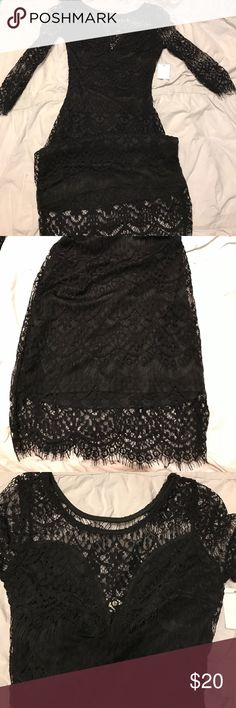 Sexy black lace dress size s Brand new with tags bodycon sexy lace dress from Charlotte Russe size small Charlotte Russe Dresses