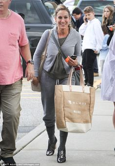 Going for it: Sarah Jessica Parker, 52, was seen rocking a unique sweatshirt and sweatpant...