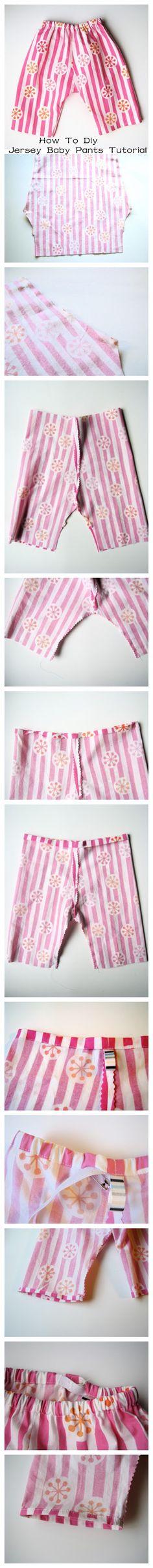 How To #Diy Jersey #Baby Pants #Tutorial