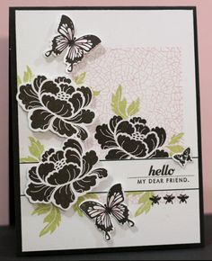 Try with Array of Sunshine stamps (original done using Pretty Peonies) --- Stamps: Array of Sunshine (Stampin' Up)