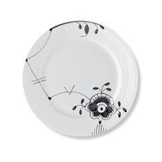 Royal Copenhagen Black Fluted Mega Lunch plate 22 cm - #6
