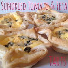 Recipe: Sundried Tomato & Feta Tarts