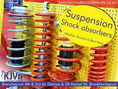 Suspension shock absorbers from our shops in and