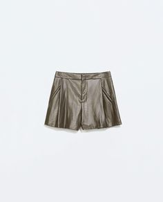Image 5 of FAUX LEATHER SHORTS from Zara