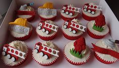 Fire fighter cupcakes........