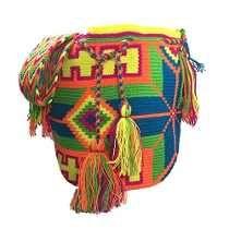 Mochila Wayuu Cubo Bolso Étnico Mano Tejida Donde