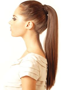 This sleek ponytail will keep you looking cool!