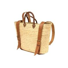 "French market basket tote.  20"" wide and 21"" high Handmade Palm leaves Leather handle approx. 4"" high/leather straps **Free shipping**"