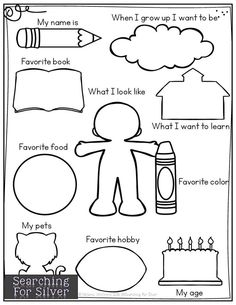 About me page! A fun keepsake for parents, and a great back to school get-to-know-you activity! About me page! A fun keepsake for parents, and a great back to school get-to-know-you activity! Get To Know You Activities, Back To School Activities, Classroom Activities, All About Me Activities For Preschoolers, Homework For Preschoolers, Open House Activities, Back To School Crafts For Kids, Back To School Worksheets, English Activities For Kids