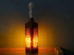 1960's Sweden heavy teak lamp base handmade orange