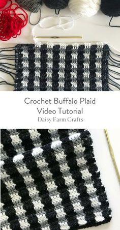 Crochet Buffalo Plaid Video Tutorial