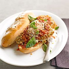Eggplant Parmesan Heros From Better Homes and Gardens, ideas and improvement projects for your home and garden plus recipes and entertaining ideas.