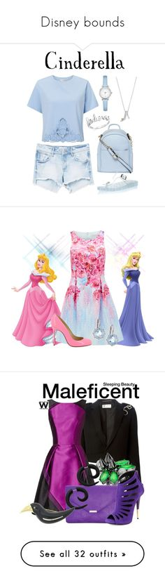 """Disney bounds"" by sarah-haag ❤ liked on Polyvore featuring Miss Selfridge, MANGO, BillyTheTree, Dorothy Perkins, Disney, Forever New, Christian Louboutin, Anzie, Pink and Blue"
