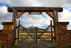 Gate to the Last Dollar Ranch, Telluride.  Learn more about this image at http://www.the-digital-picture.com/Pictures/Picture.aspx?Picture=2014-09-30_20-05-27