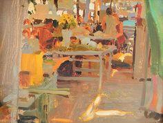 Kim English Market Day in Etla Oil, 9 x Klimt, Kim English, Environment Painting, Art Students League, Classic Paintings, Art Paintings, English Artists, Traditional Paintings, Fantastic Art