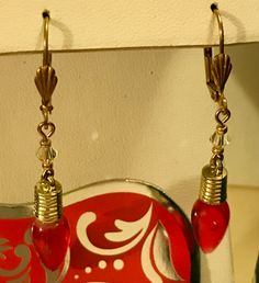 Holiday light earrings, holiday earrings, earrings, jewelry, gift, Christmas earrings, Christmas lights, holiday lights by Dzdjewelry on Etsy
