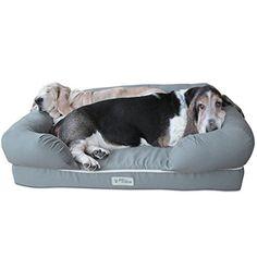 "[NEW] PetFusion Ultimate Dog Lounge & Bed. (Slate Gray, 36 x 28 x 9.5""). Premium Edition w/ Solid 4"" Memory Foam PetFusion http://www.amazon.com/dp/B00TQ47CPW/ref=cm_sw_r_pi_dp_BDzkvb09B380E"
